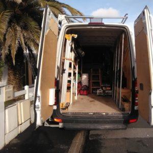 Camion aménagé de la société Alchuteguy - SAV Pays basque Landes